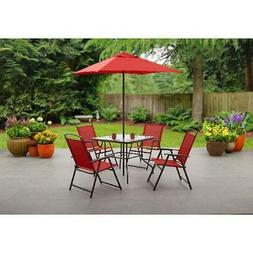 Mainstays Albany Lane 6-Piece Outdoor Patio Dining Set, Mult
