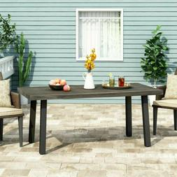 Altair Outdoor Modern Industrial Aluminum Dining Table