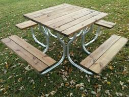 Aluminum picnic table frame with stainless steel hardware~Ro