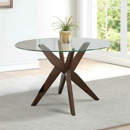 "Amalie 48"" Round Glass Top Dining Table"