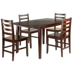 Anna Five Piece Extension Dining Table Set Four Ladder Back