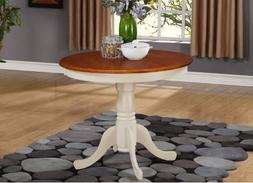East West Furniture ANT-WHI-T Round Table, 36-Inch, Buttermi