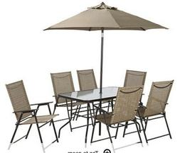 Arrowhead Outdoor Patio 7-Pc. Dining Set with Folding Chairs