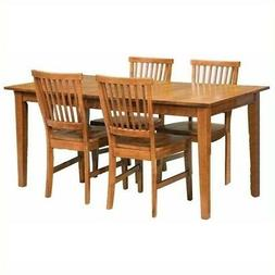 Home Styles Arts and Crafts 5 Piece Dining Set in Cottage Oa