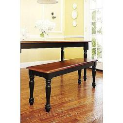Better Homes and Gardens Autumn Lane Farmhouse Bench, Black