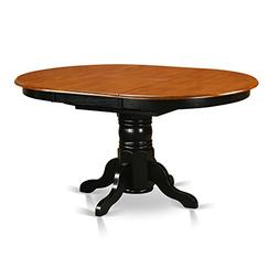East West Furniture AVT-BLK-TP Oval Table with 18-Inch Butte