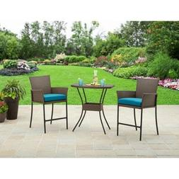 Better Homes and Gardens 3-Piece Balcony Wicker Bistro Set,