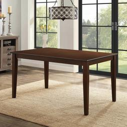 solid wood dining table only rectangular 6