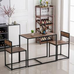 Bar Breakfast Kitchen Dining Table with 2 Chairs Set Saving