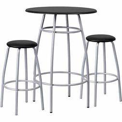 Flash Furniture Bar-Height Table and Stool Set with Bowed-Ou