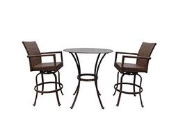 Panama Jack Outdoor 3-Piece St Barths Pub Set, Includes 2 Sw