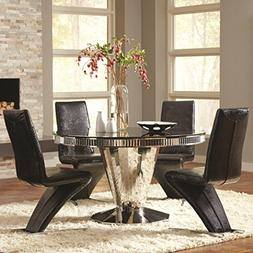 Coaster Home Furnishings Barzini 5-Piece Round Table Dining