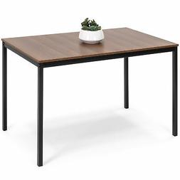 BCP 48in Modern Rectangular Dining Table Office Desk - Brown