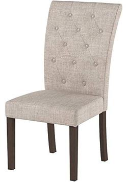 Merax Beige Dining Chair Leisure Padded Chair with Sturdy Wo