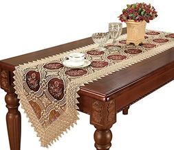 Simhomsen Beige Embroidered Lace Table Runners And Dresser S