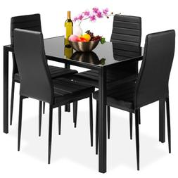 Best Choice Products 5 Piece Kitchen Dining Table Set W/Glas