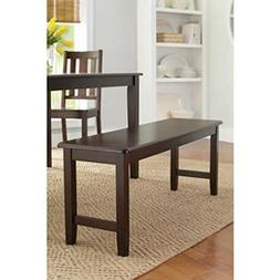 Better Homes and Gardens Brown Two Seat Dining Bench, Mocha,