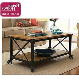 Better Homes and Gardens Rustic Country Coffee Table, Antiqu