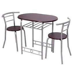 Giantex 3 PCS Bistro Dining Set Table and 2 Chairs Kitchen P