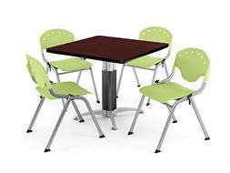 5 Piece Bistro Table Set with Counter Height Chairs