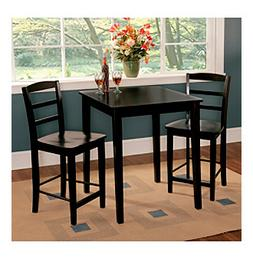 International Concepts 3-pc. Black Counter Height Dining Col