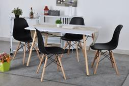 Black Set of 4 Mid Century Modern Style Dining Chair Kitchen
