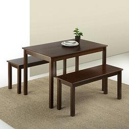 Brand New Zinus Juliet Espresso Wood Dining Table with Two B