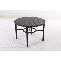 Brand new Hampton Bay metal, round outdoor dining table