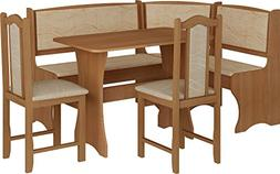 Breakfast Kitchen Nook Table Set, Bench Seating With Storage