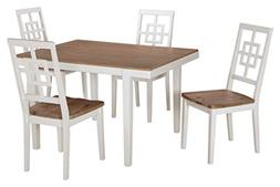 "Brovada D298-225 Rectangle Dining Room Table Set with 48"" Re"