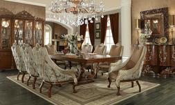 Brown Cherry Royal Formal Dining Room Family 9pc Set Dining