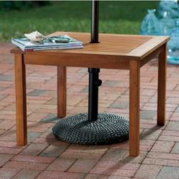 Brown Modern Hardwood Umbrella Table | Perfect Contemporary