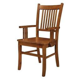 Medium Brown Oak Finish Mission Dining Arm Chair by Coaster