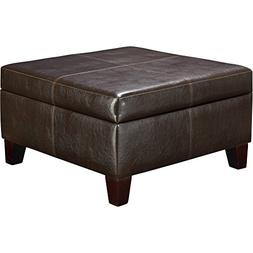 New Brown Square Storage Ottoman Multiple Colors Provides ad