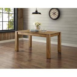 Bryant Dining Table For Home Solid Rustic Brown Wood Tableto