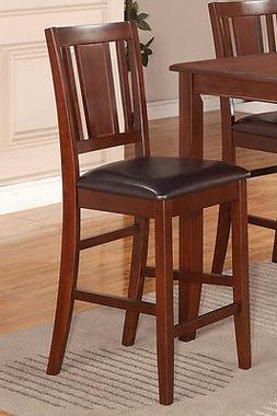 Set of 2 Buckland kitchen counter height chairs with faux le