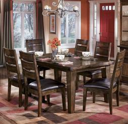 Burnished Dark Brown Dining Table