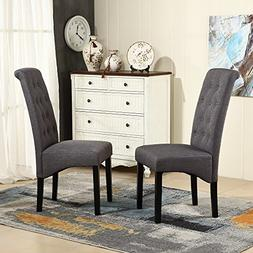 LSSBOUGHT Button-tufted Classic Accent Dining Chairs with So