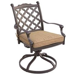 Darlee Camino Real Patio Swivel Chair in Antique Bronze