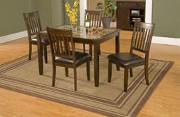 Alpine Furniture Capitola Faux Marble 5 Piece Dining Set