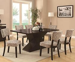 Janes Gallerie 7-piece Cappuccino Contemporary Dining Set
