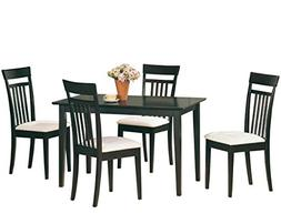 Coaster Cappuccino Dining Table & 4 Side Chairs