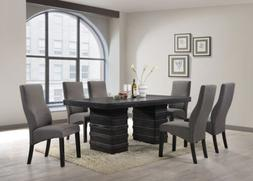 Kings Brand Cappuccino Finish Wood Wave Design Dining Room K
