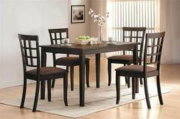 cardiff espresso dining table made by rubberwood