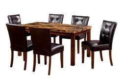 Furniture of America Carignan 7-Piece 60-Inch Dining Table S