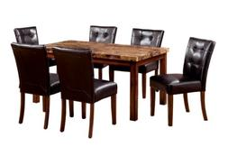 Furniture of America Carignan 7-Piece 48-Inch Dining Table S