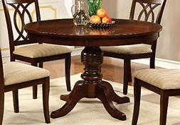 "1PerfectChoice Carlisle Country 48""D Round Pedestal Dining T"
