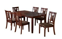 Furniture of America Cartiere 7-Piece Dining Table Set, Dark