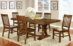 Furniture of America Castile 7-Piece Transitional Dining Set