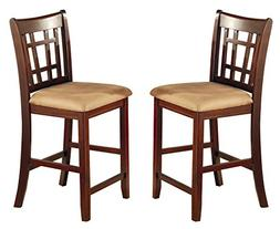 """Lavon 24"""" Counter Stools Tan and Brown"""